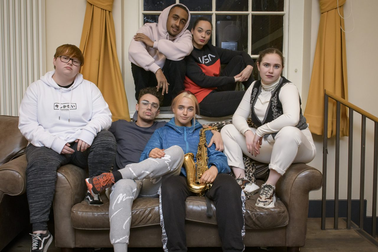 The cast of Touchy. Photo: Wesley Storey.