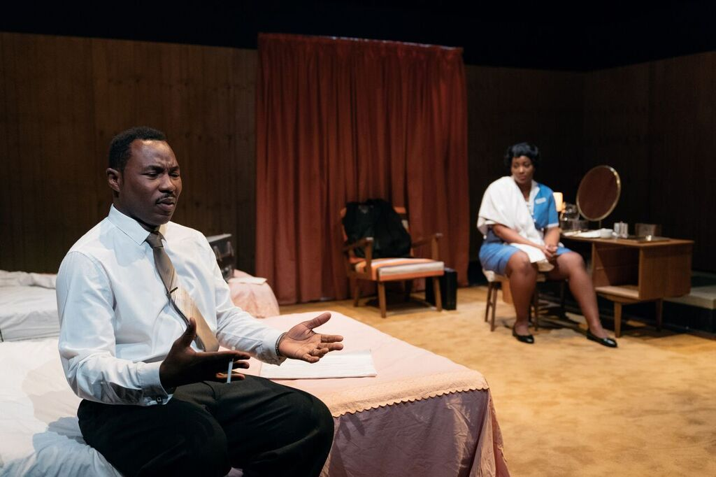Gbolahan Obisesan and Rochelle Rose in The Mountaintop at Northern Stage. Photo: Helen Murray