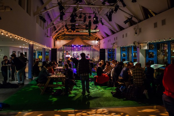 The West Yorkshire Playhouse foyer - transformed. Photo: Richard Davenport