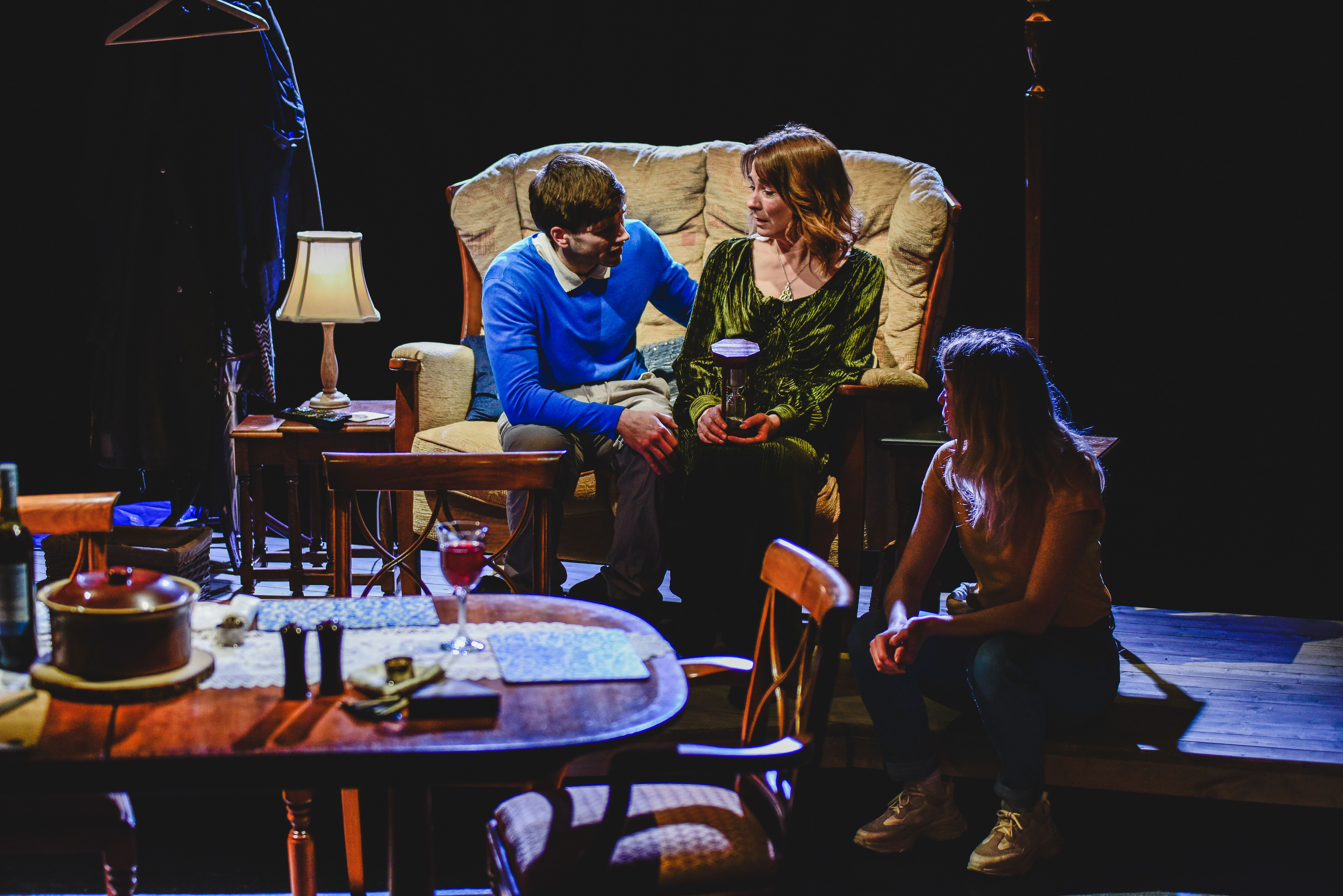 BLUE at Chapter Arts Centre, Cardiff. Design, Oliver Harman; lighting design, Ceri James. Photo: Kirsten McTernan