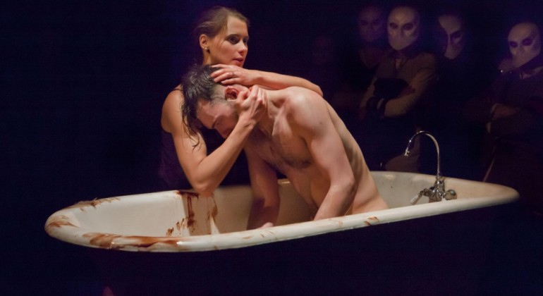 Punchdrunk's 'The Drowned Man' in performance. Credit: Alastair Muir