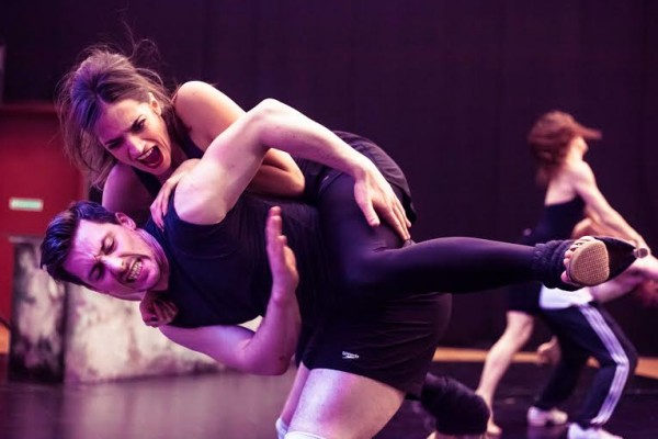 Drunk: the company in rehearsal