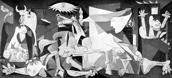 Guernica by Pablo Picasso, currently in the Museo Nacional Centro de Arte Reina Sophia.