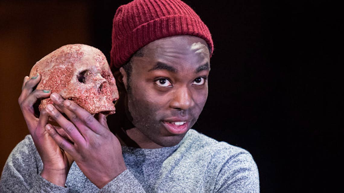 Paapa Essiedu in the RSC's production of 'Hamlet'. Photo: Manuel Harlan
