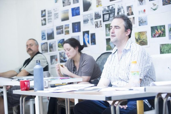 Jeremy Herrin in rehearsals for The Nether