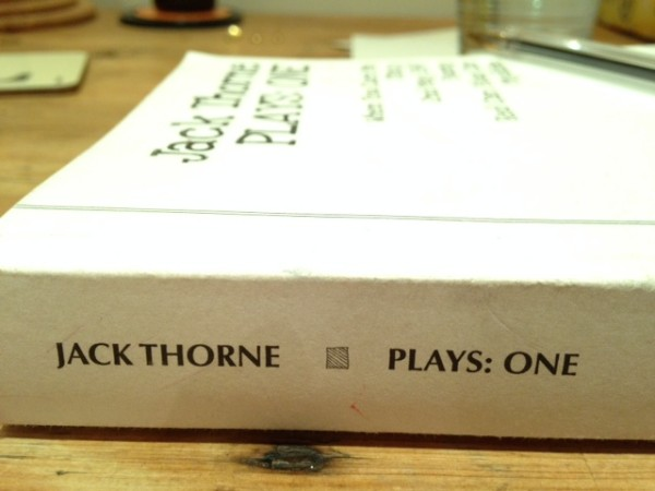 Jack Thorne – Plays: One