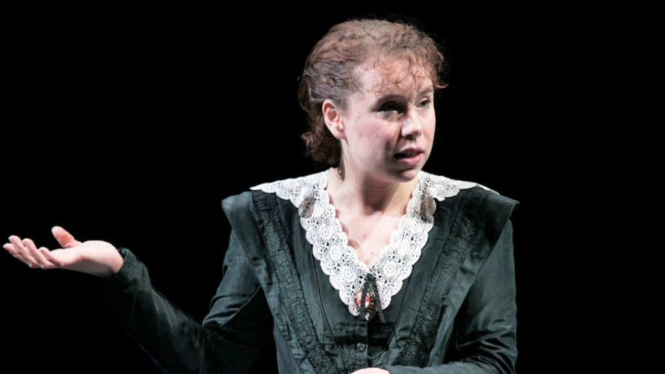 Michelle Terry as Helena in As you Like It at the National.