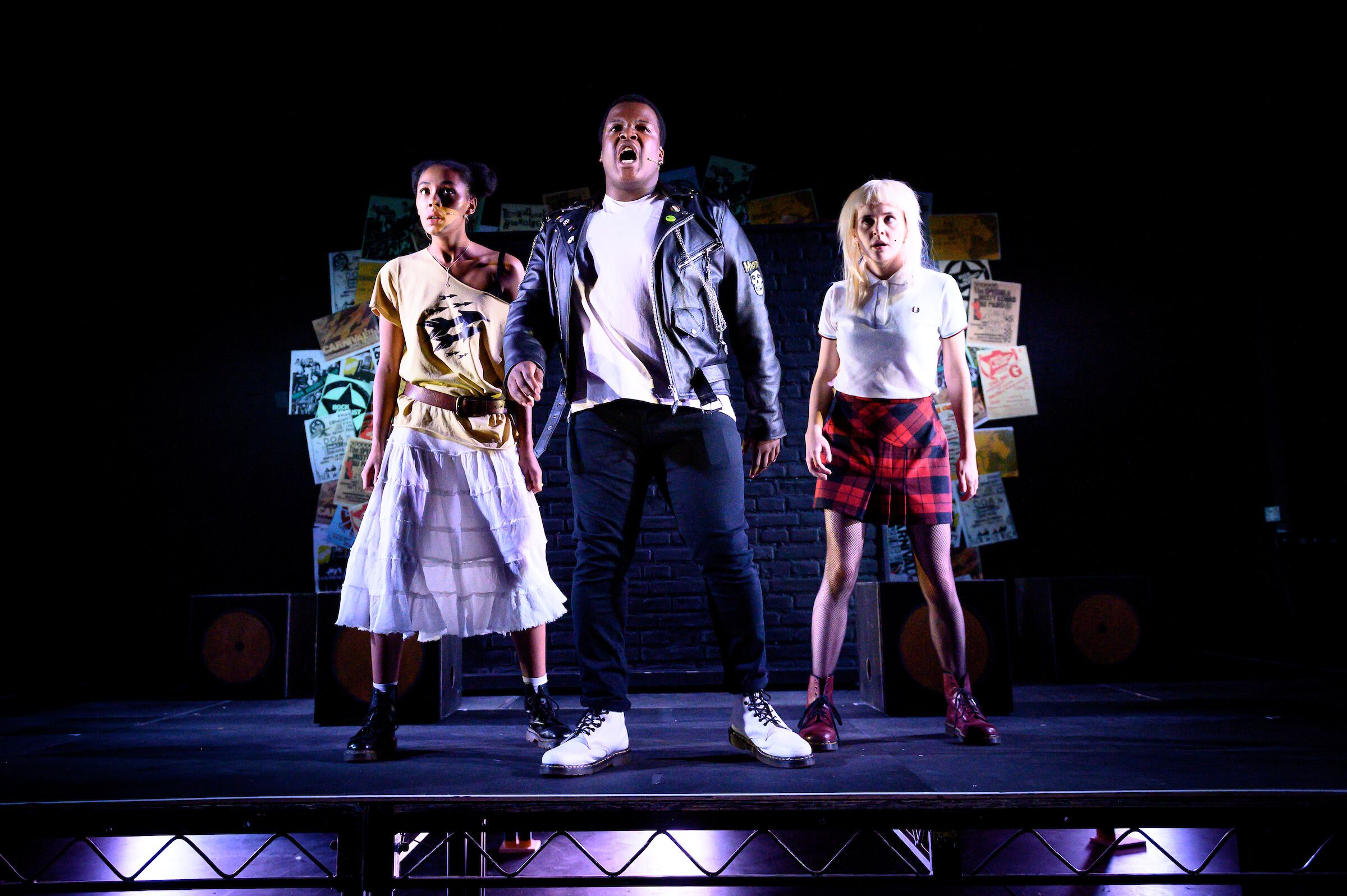 Rebel Music at Birmingham REP. Lighting design, Alex Boucher. Photo: Graeme Braidwood.