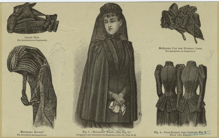 A catalogue of Victorian mourning wear