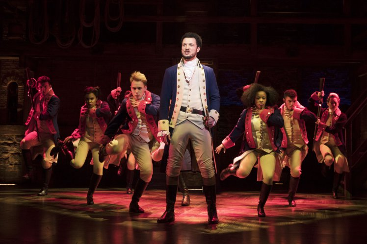 'Hamilton' in London. Photo: Matthew Murphy