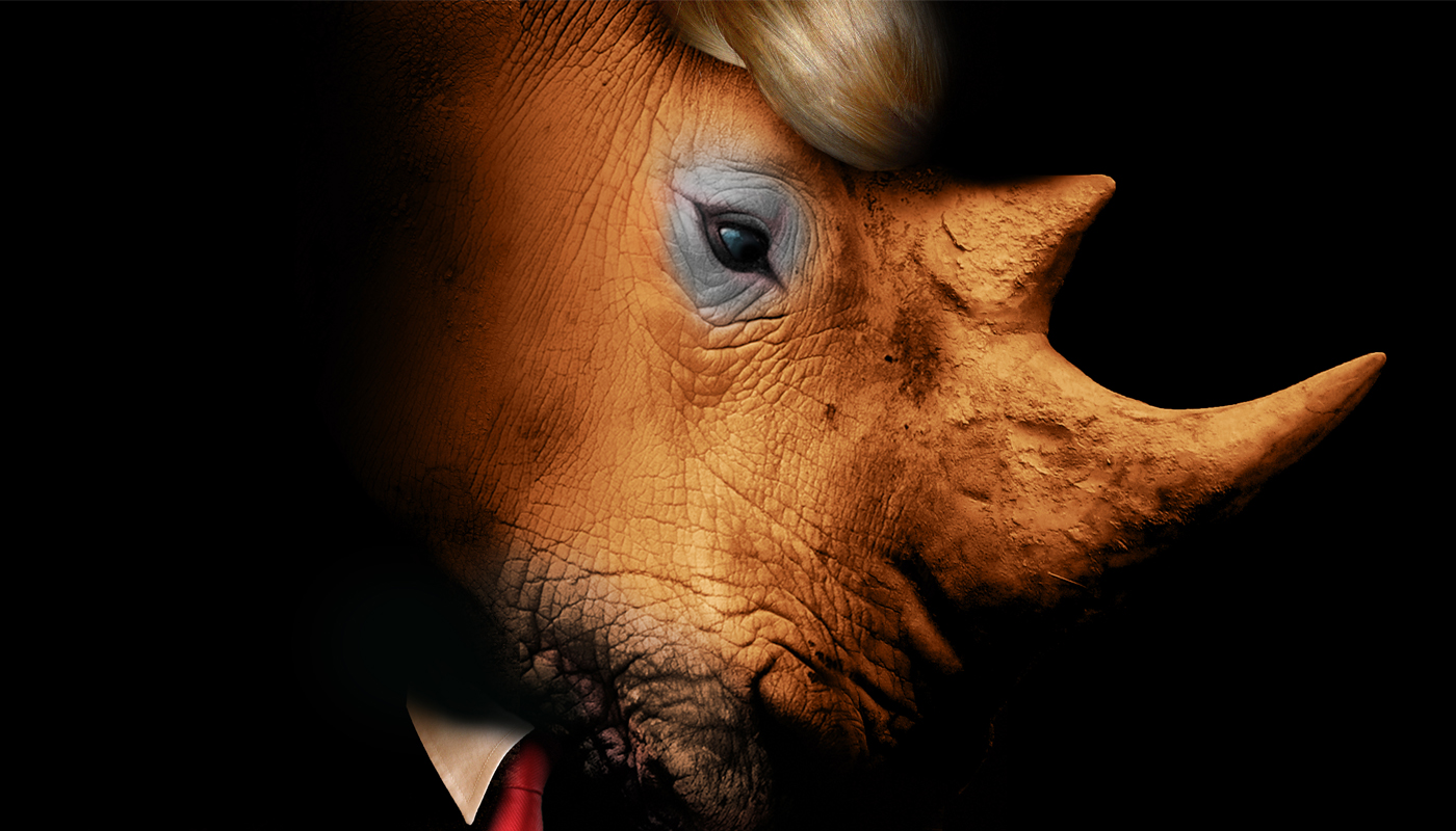 The Trump Rhino. (Original image by Christopher Cotichelli).