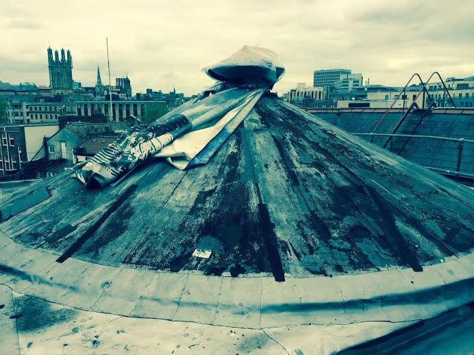 The roof of the Bristol Hippodrome