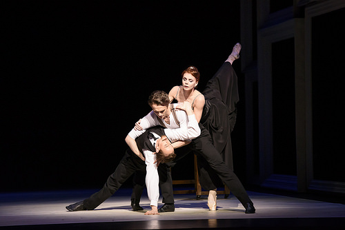 Edward Watson, Matthew Ball and Natalia Osipova in Strapless at ROH. Photo: Bill Cooper.