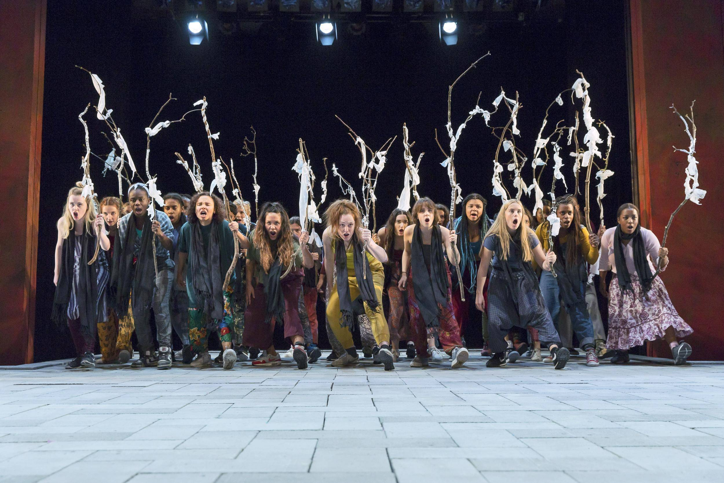 The Suppliant Women at the Young Vic. Photo: Stephen Cummiskey.