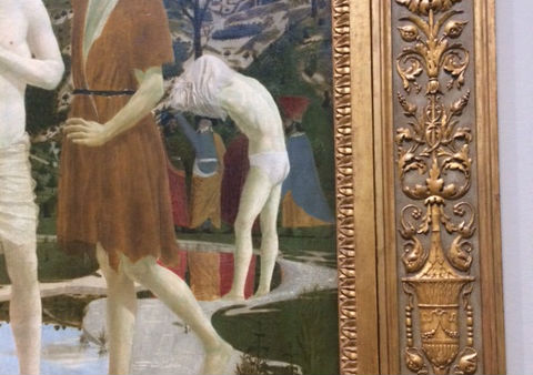 Detail of 'The Baptism of Christ', 1450s, National Gallery