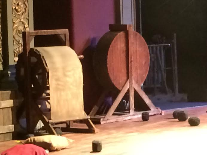 The wind machine at the Bristol Old Vic