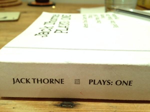 Jack Thorne – Plays: One